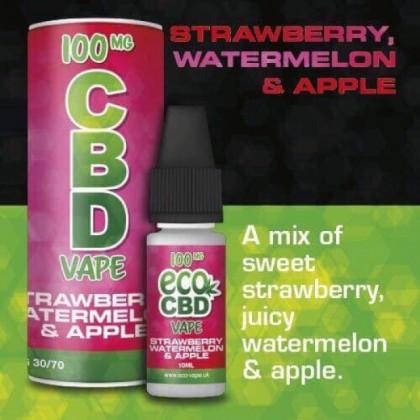 Eco Vape CBD Vape Strawberry, Watermelon & Apple
